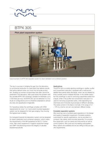 BTPX Separator - BTPX 305 S - Pilot plant separation system