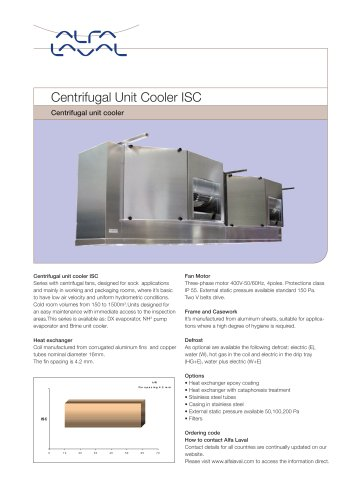 Centrifugal Unit Cooler ISC