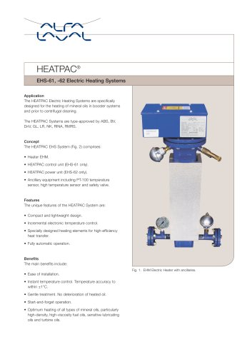 EHS-61, -62 Electric Heating Systems