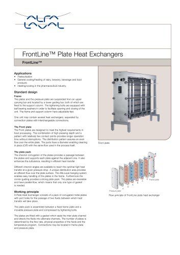 FrontLine Plate Heat Exchanger