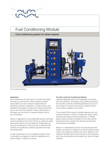 Fuel Conditioning Module
