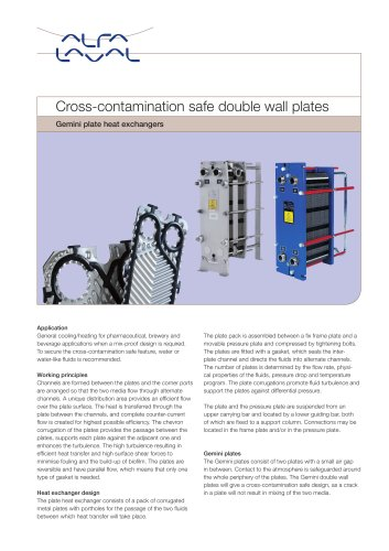 Gemini PHE - Cross-contamination safe double wall plates