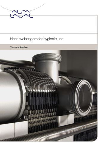 Heat exchangers for hygienic use - the complete line