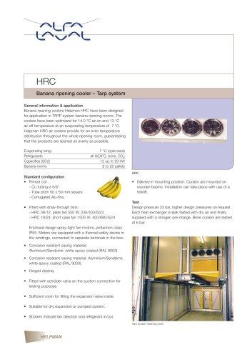 HRC - Banana ripening cooler – Tarp system