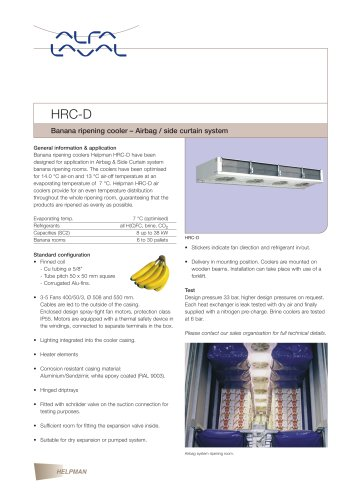 HRC-D - Banana ripening cooler – Airbag / side curtain system