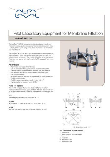 LabStak for membrane filtration M37-38