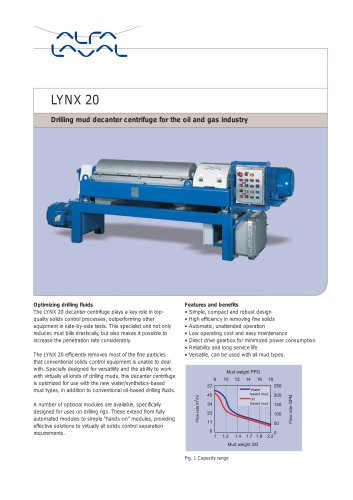 LYNX - Drilling mud decanter - LYNX 20