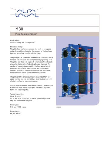 M30 - Plate heat exchanger