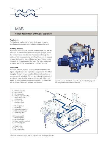 MAB Solids-retaining Centrifugal Separator
