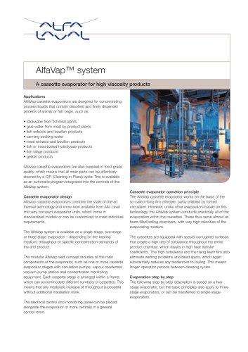 PD leaflet: AlfaVap System