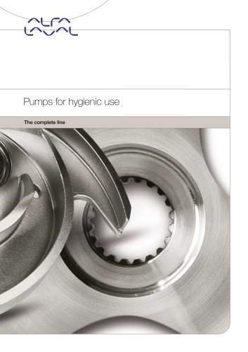 Pumps for hygienic use - the complete line
