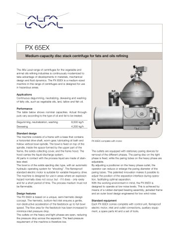 PX 65EX Disc stack centrifuge