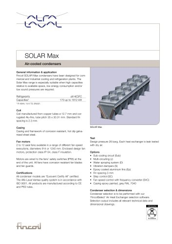Solar Max - Air-cooled condensers