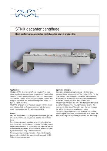 Stnx - decanter centrifuge