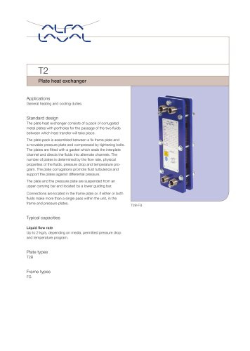 T2 - Plate heat exchanger