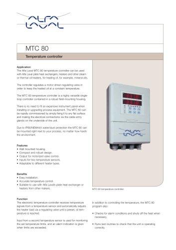 Temperature controller MTC 80