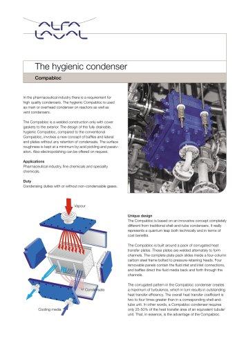 The hygienic condenser
