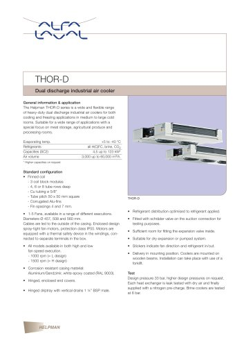 THOR-D - Dual discharge industrial air cooler