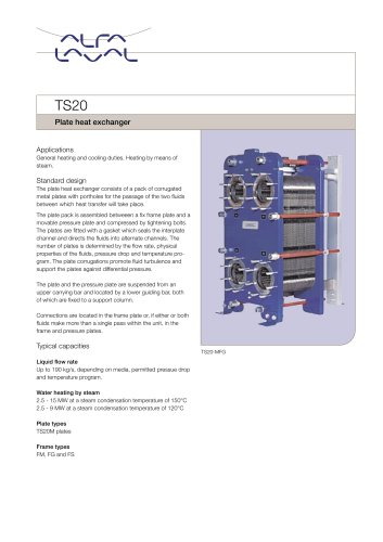 TS20 - Plate heat exchanger