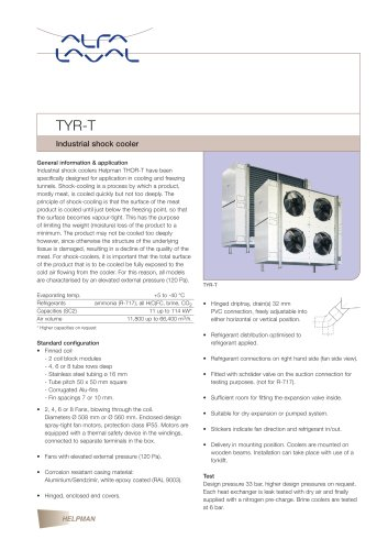 TYR-T - Industrial shock cooler