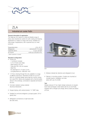 ZLA - Industrial air cooler FeZn