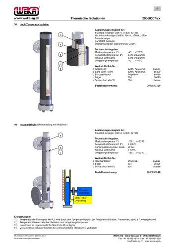20060307/30 Hoch-Temperatur Isolation 20060307/40 Heizmantelrohr