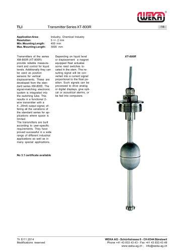 Transmitter Series XT-800R
