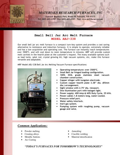 Arc Melt Furnace ABJ-338