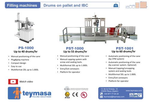 Drums on pallet and IBC