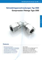 Compression Fittings Type 200