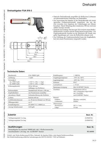 Drehzahlgeber FUA 919-3