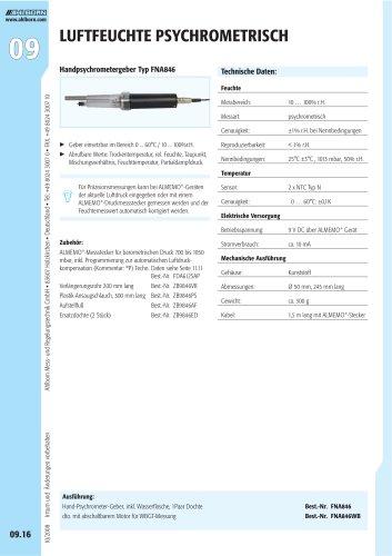 Handpsychrometergeber Typ FNA846