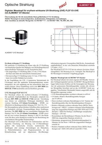 Optische Strahlung ALMEMO® D7