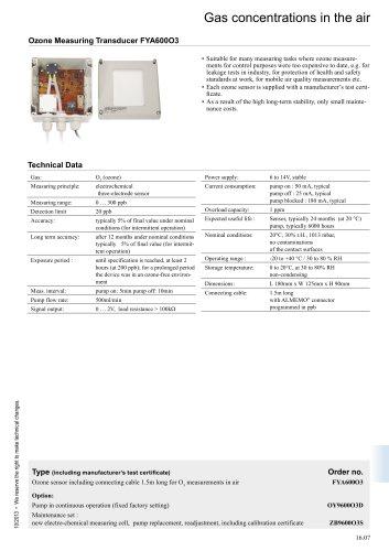 Transducer FYA600O3
