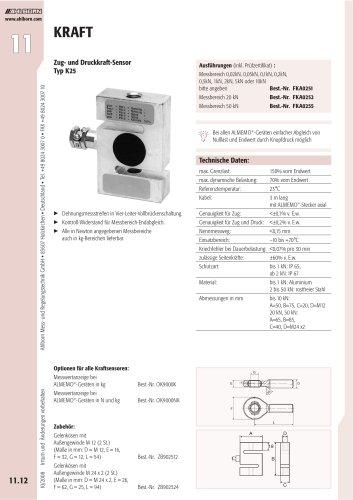 Zug- und Druckkraft-Sensor Typ K25