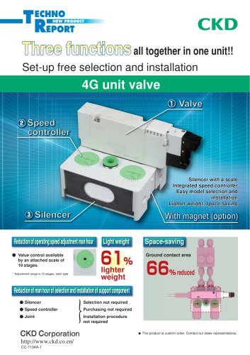 4G unit valve