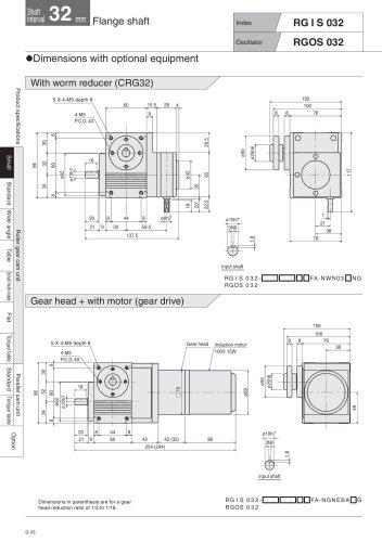 Roller gear cam unit  Small type RGIS_RGOS  RGIS_RGOS032