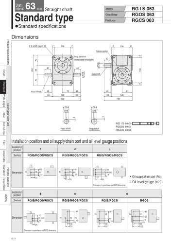 Shaft interval 63_80mm  RGIS_RGOS_RGCS063