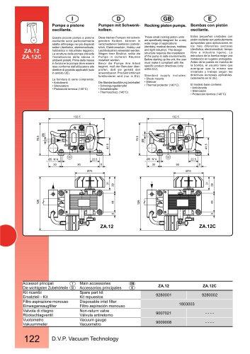 PISTON PUMP ZA.12 115V 60Hz