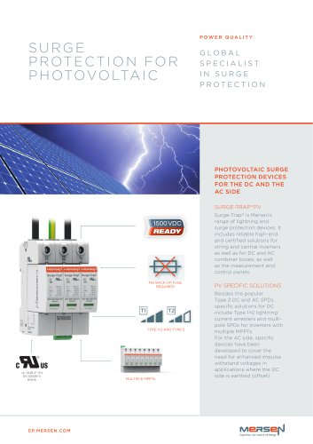 SURGE PROTECTION FOR PHOTOVOLTAIC