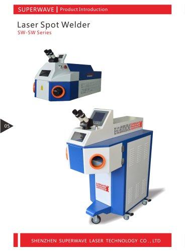 Superwave laser spot welding machine