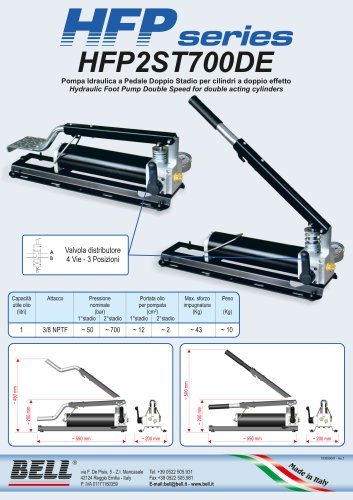 HFP SERIES - Double-effect double stage manual hydraulic pump