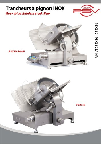 Gear drive stainless stee slicer
