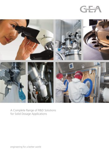 A Complete Range of R&D Solutions for Solid Dosage Applications