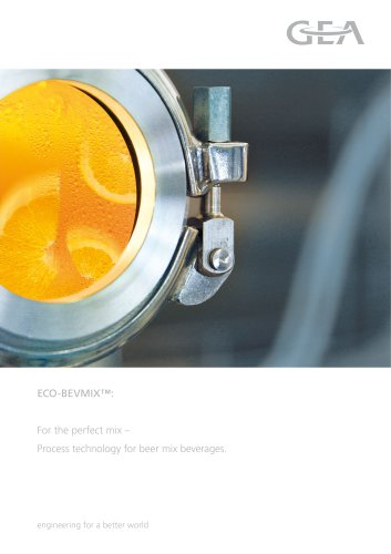 ECO-BEVMIXTM - Process technology for beer mix beverages