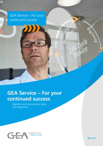 GEA Service – For your continued success