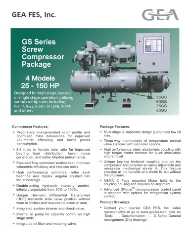 GS Series Screw Compressor Package