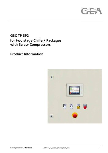 GSC TP for Grasso screw compressors, two stage packages