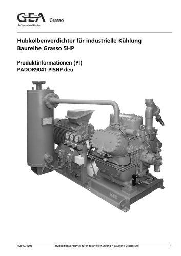 Hubkolbenverdichter für industrielle Kühlung Baureihe Grasso 5HP