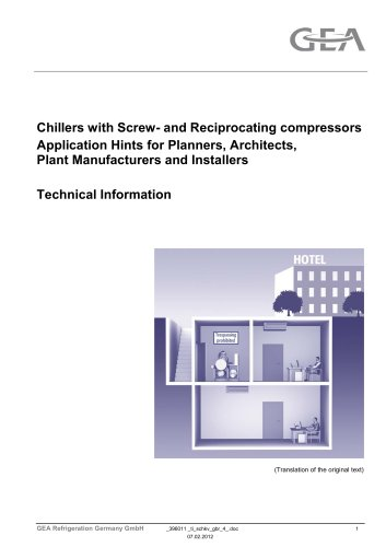 Reciprocating compressors Application Hints for Planners, Architects, Plant Manufacturers and Installers